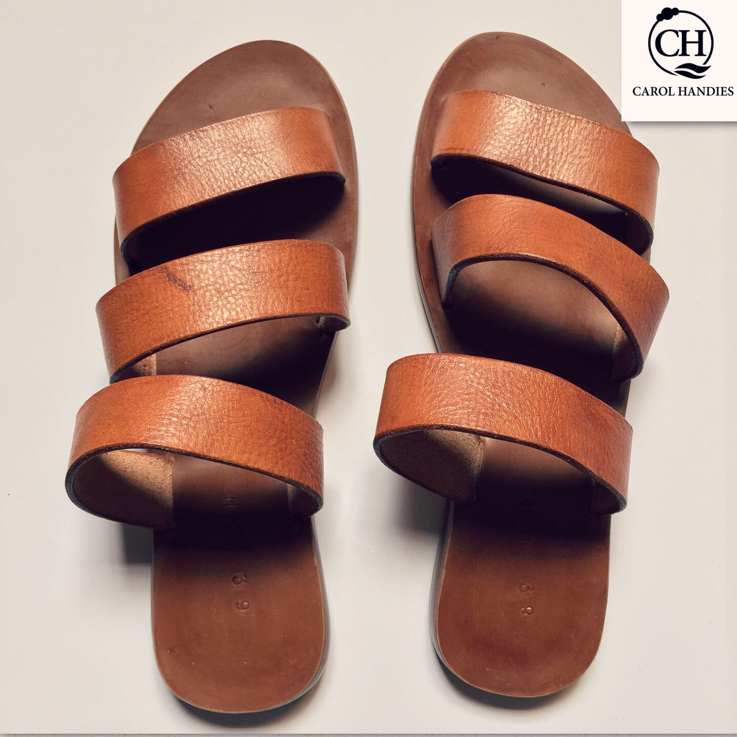 african made ladies flats brown leather