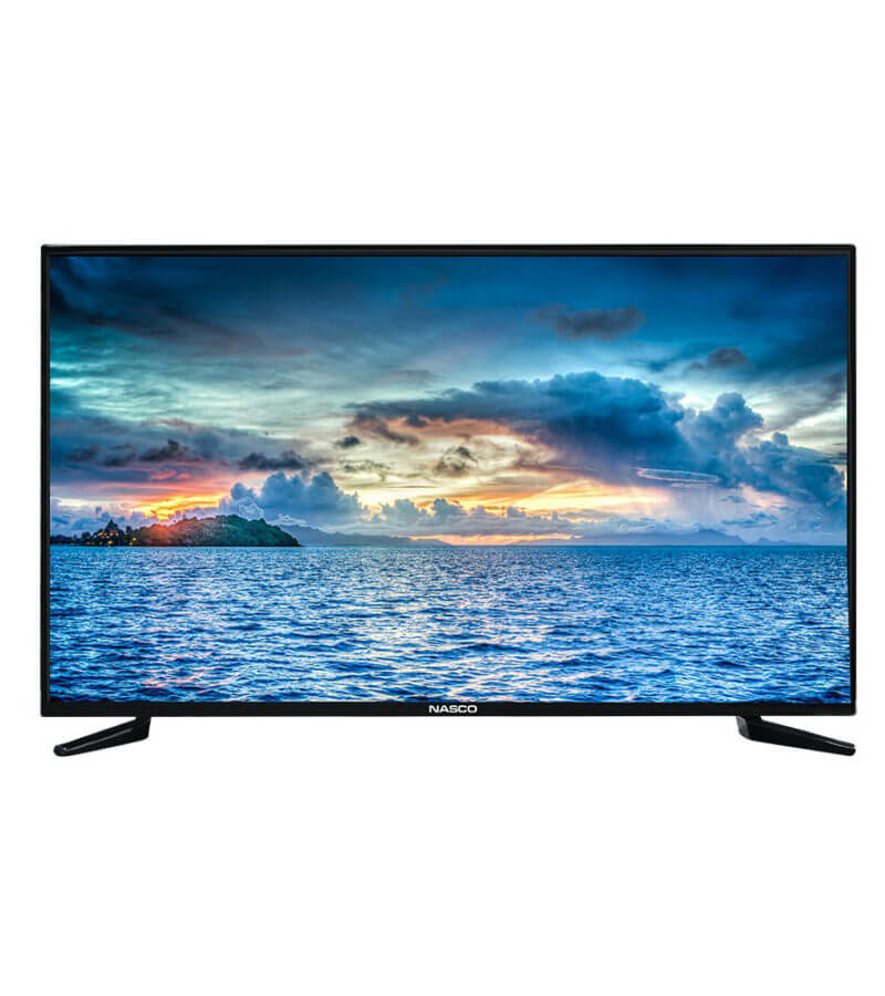 nasco led 32 inch satellite tv  - black