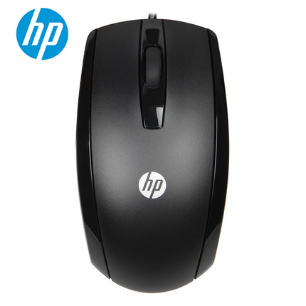 hp x500 1000dpi wired mouse - black