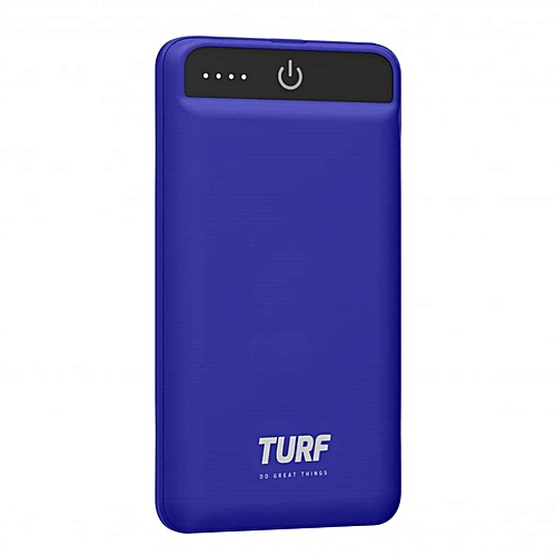 turf portable power bank 5000 mah blue