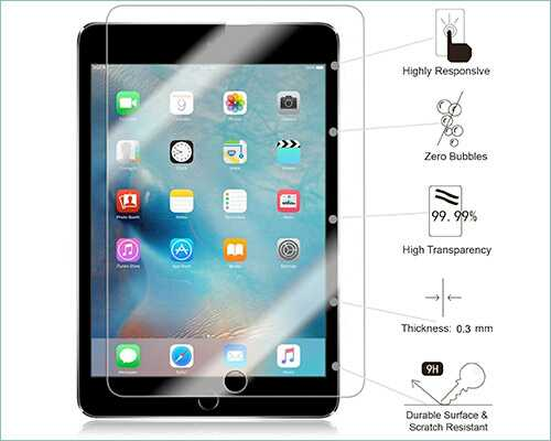 apple ipad pro 10.5 tempered glass screen protector