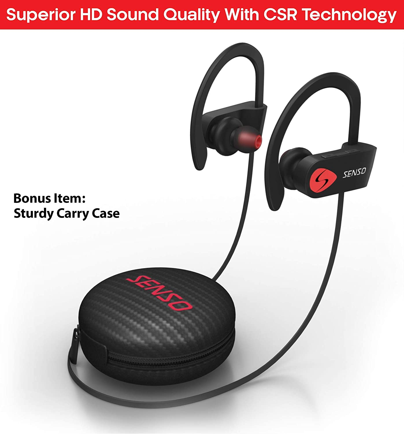 senso activebuds s-250 wireless sports headphone