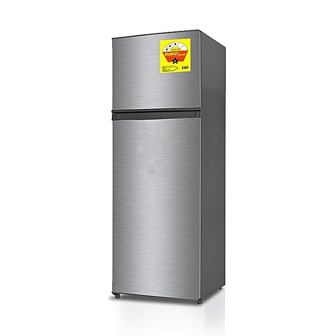nasco 220 litres double door fridge  - silver