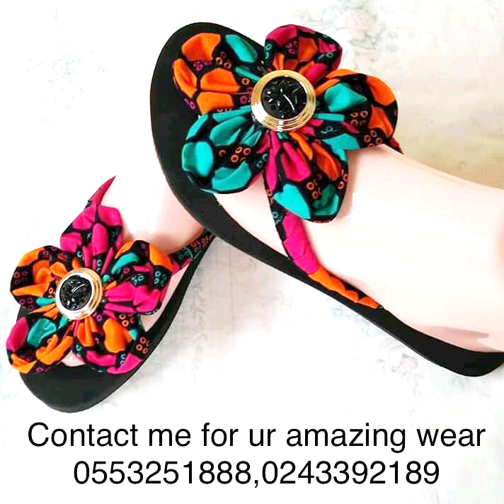 beautiful ghana made ladies colourful slippers