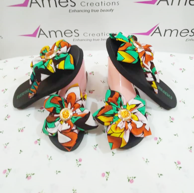 hand made african ladies slipers -  made in ghana